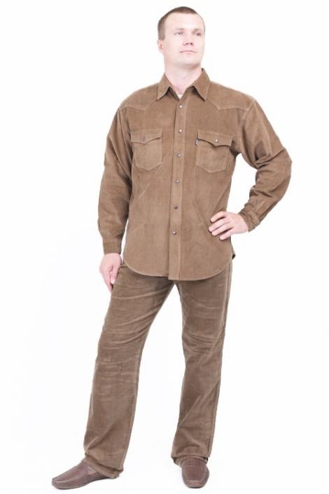 джинсы и рубашка montana d.brown Montana джинсовые костюмы MO 542GRN+5929C.Beige