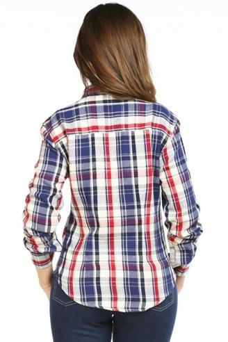 женская рубашка montana синяя 11515 Montana рубашки женские 11515