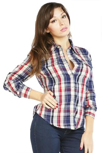 Женская рубашка Montana синяя 11515