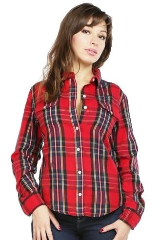 Женская рубашка Montana красная 11515