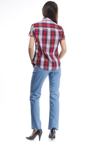 рубашка женская в клетку, короткий рукав Montana рубашки женские 11516