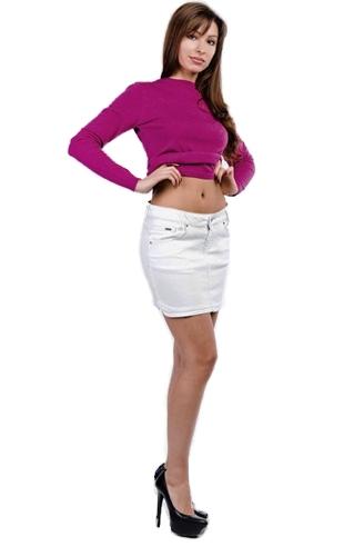 юбка джинсовая montana белая Montana джинсовые юбки 13552