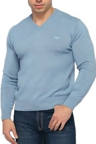 Свитер мужской голубой 26096