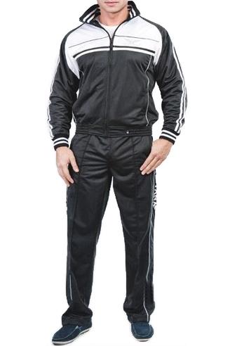 Спортивный костюм черно-белый