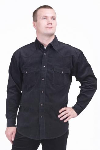 Рубашка вельветовая Монтана Black-Velvet