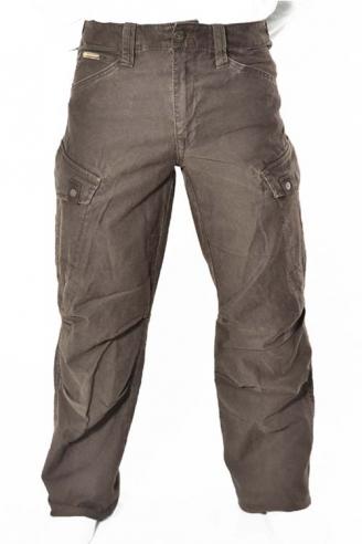 Джинсы мужские широкие коричневые