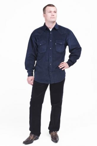 рубашка вельветовая монтана nav-velvet Montana рубашки 542 L.1.16 Nav