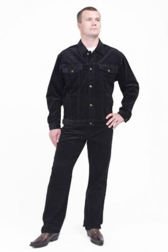 Вельветовый костюм Монтана Black