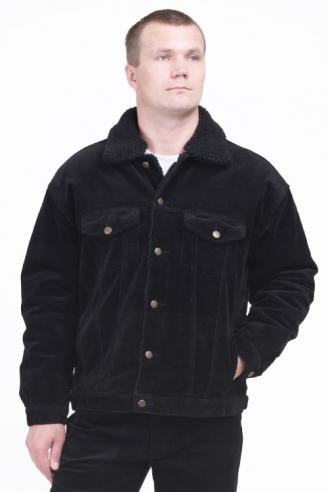 Вельветовая куртка Монтана черная
