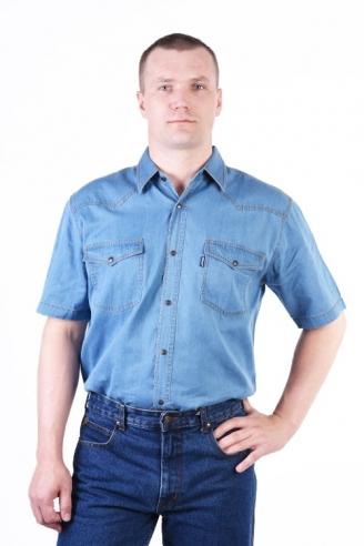 рубашка монтана голубая лето Montana рубашки 545 S.1.60 TIN LST