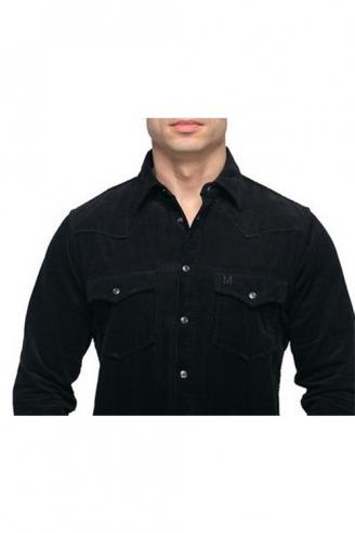 рубашка мужская montana 11041 черный Montana рубашки 11041
