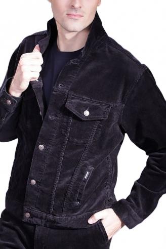 Черная Вельветовая куртка MONTANA