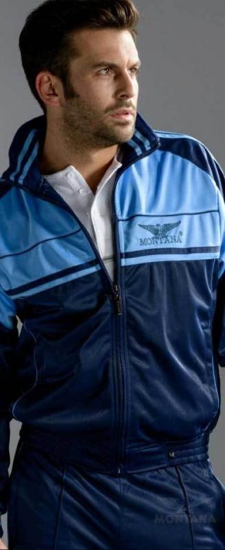 спортивный костюм montana сине-голубой Montana мужская одежда 27051