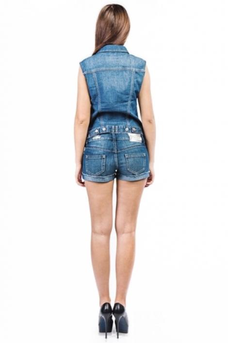 жилет монтана женский 12572 голубой Montana джинсовые куртки 12572