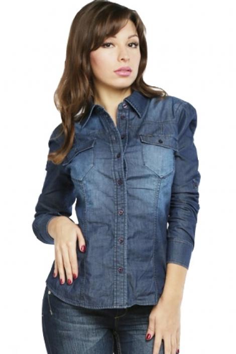 рубашка женская джинсовая montana 11514 Montana рубашки женские 11514
