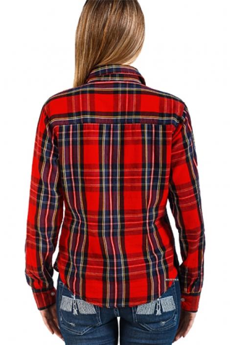 женская рубашка montana красная 11515 Montana рубашки женские 11515