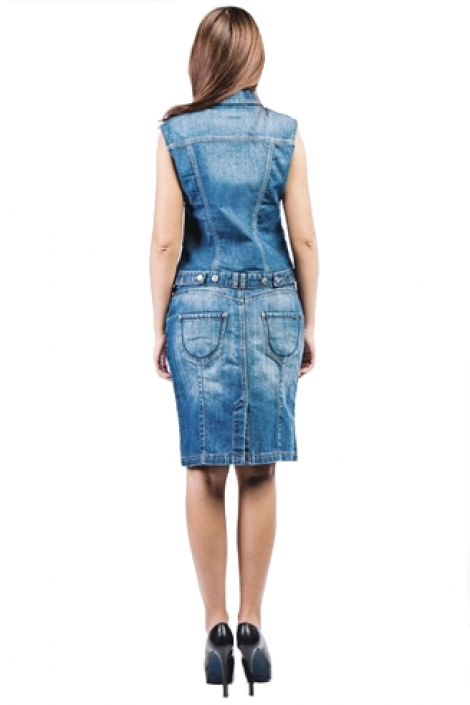юбка монтана арт. 13551 голубая Montana карандаш 13551