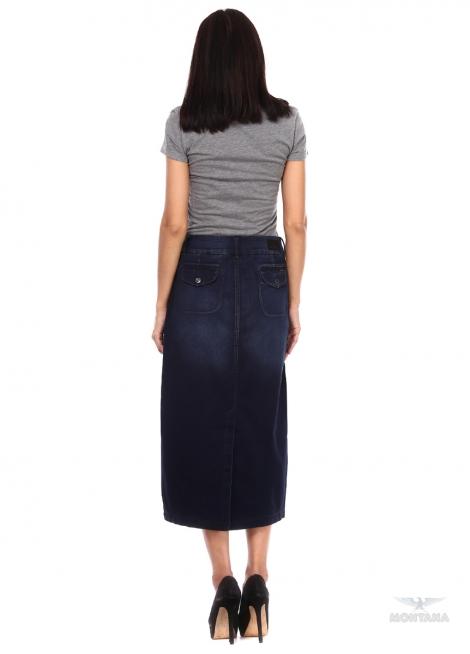 джинсовая юбка длинная montana Montana карандаш 13553