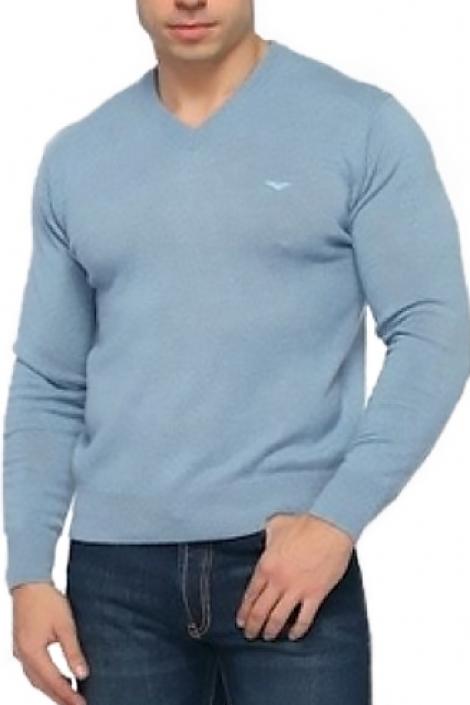 свитер мужской голубой 26096 Montana толстовки и свитера 26096
