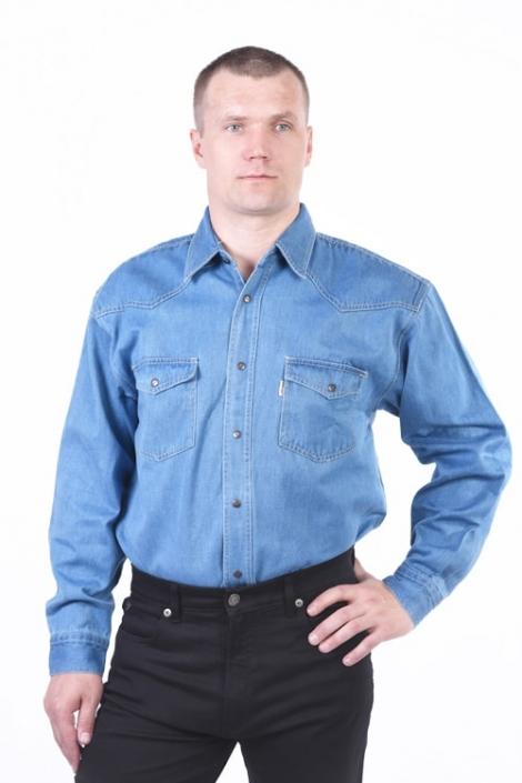 Рубашка Монтана голубая