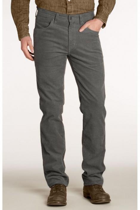 Вельветовые джинсы Wrangler серый