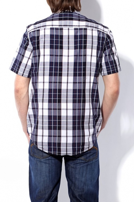 рубашка montana мужская в клетку, короткий рукав Montana рубашки 11061 Navy/Blue