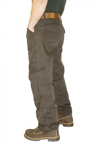 Джинсы мужские коричневые военного стиля Cordial