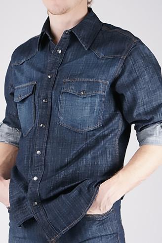 Джинсовая рубашка 11056