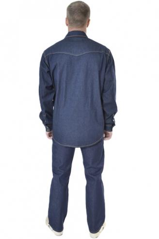Рубашка мужская Montana 12190RW темная