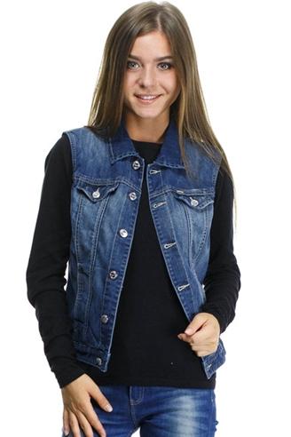 жилет монтана женский 12572 Montana джинсовые куртки 12572