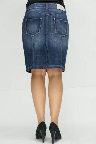 юбка монтана арт. 13551 темно-синяя Montana карандаш 13551