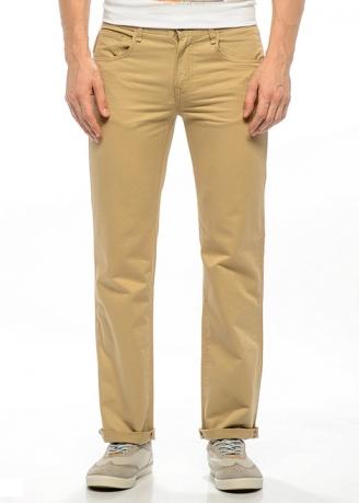 брюки montana 20055_beige/бежевый Montana джинсы классические  20055 Beige