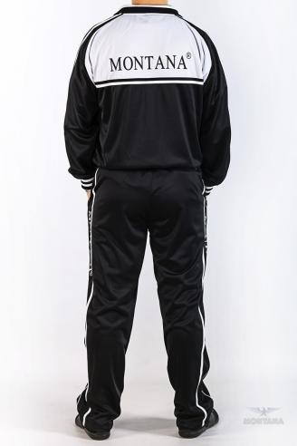 спортивный костюм черно-белый Montana мужская одежда 27051 Black/White