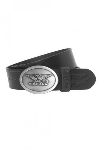 Ремень MONTANA 31023 кожаный черный