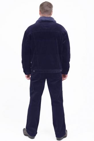 Вельветовая куртка Монтана темно-синяя