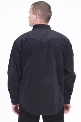 рубашка вельветовая монтана black-velvet Montana рубашки 542 L-1 Black
