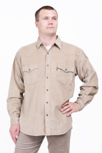 Рубашка вельветовая Монтана D.Beige