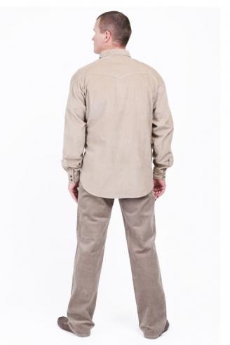 рубашка вельветовая монтана d.beige Montana рубашки 542 L-1 D.Beige