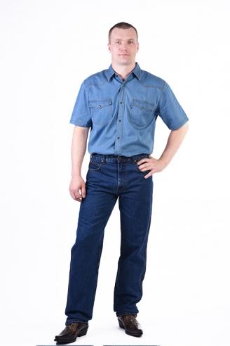 Рубашка Монтана синяя лето