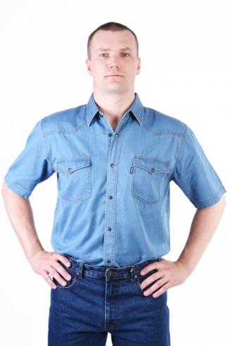 Рубашка Монтана голубая лето