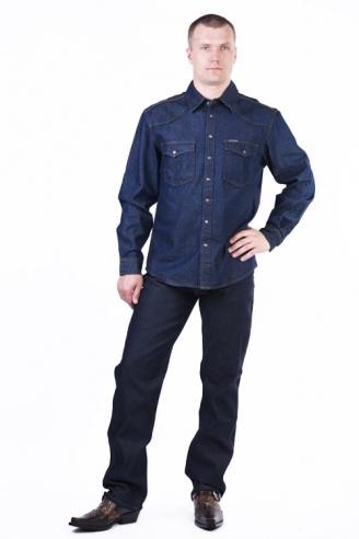 Костюм джинсы и рубашка Монтана