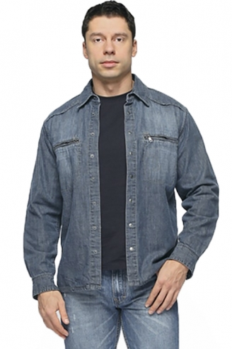 Рубашка джинсовая Монтана утепленная 11052